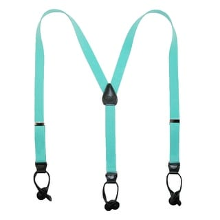 CTM® Elastic 1 Inch Wide Fashion Color Button-End Suspenders - One size (Option: Purple)