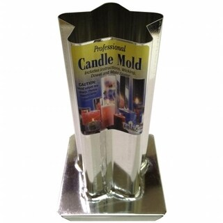 Professional Metal Candle Mold-5 Point Rounded Star