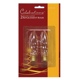 Celebrations T-15-71 Electric Candle Replacement Bulbs, 120 V, 7 W