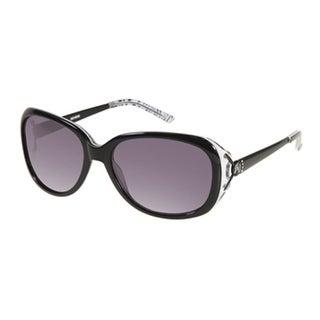 Harley Davidson Womens Sunglass Plastic Rectangle Black, Smoke Lens HDX 849 - Medium