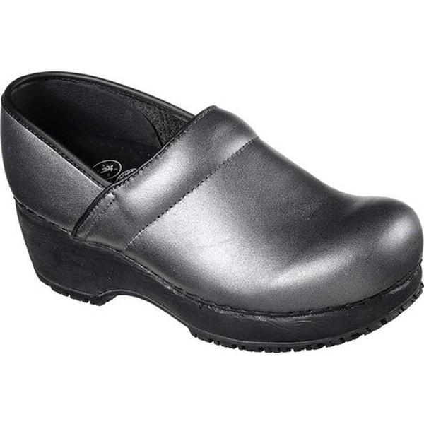 e2ece1e0744 Shop Skechers Women s Work Clog Slip Resistant Shoe Silver - Free ...