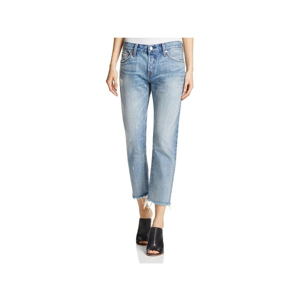 0061e3237ef Shop Levi's Womens 501 Tapered Leg Jeans Customized Cropped - Free ...