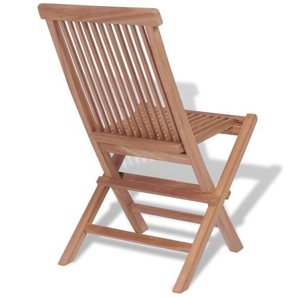 Remarkable Shop Vidaxl Folding Garden Chairs 4 Pcs Solid Teak Wood Cjindustries Chair Design For Home Cjindustriesco