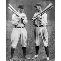 ''Ty Cobb and Shoeless Joe Jackson, 1913'' by McMahan Photo Archive Sports/Games Art Print (10 x 8 in.)