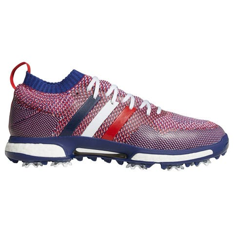 Men's Adidas Tour 360 Knit Cloud White/Night Sky/Scarlet Golf Shoes B37772