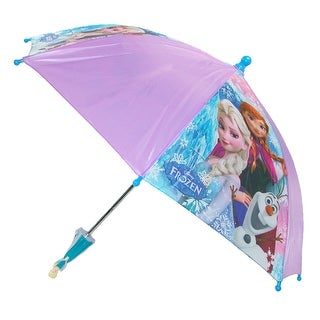 Disney Kids' Frozen Elsa and Anna Stick Umbrella with Character Handle