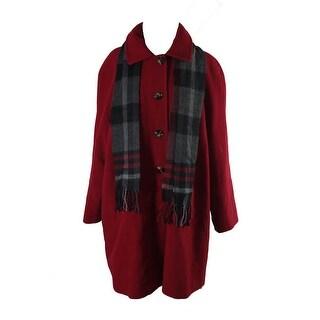 London Fog Plus Size Red Peacoat X
