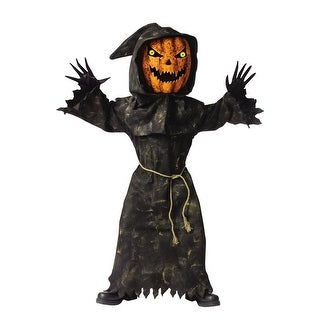 Fun World Bobble Head Pumpkin Child Costume - Black