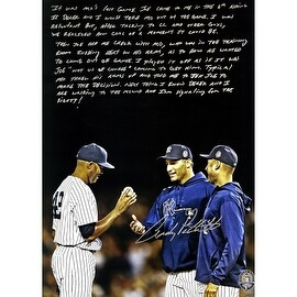 Andy Pettitte Facsimile 'Taking Out Mo' Metallic 24x16 Story Poster Uns
