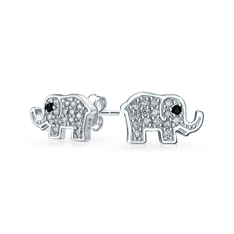 925 Sterling Silver Elephant Stud Earrings