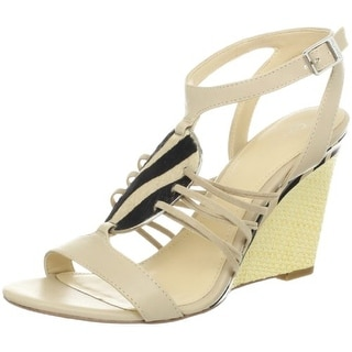 Calvin Klein Women's Marion Shiny S Nappa Wedge Sandal