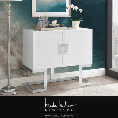 Allina Stainless Steel Base Accent Cabinet with Adjustable Drawers