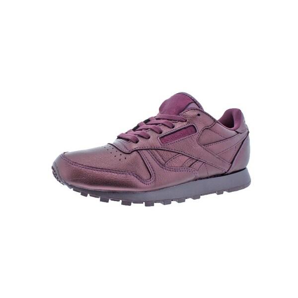 817c703250e080 Reebok Womens Classic Leather Fashion Sneakers Round Toe Lace-Up - 5.5  medium (b