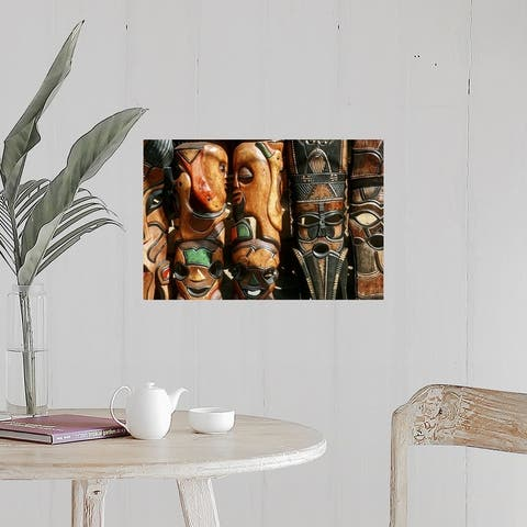 """""""African wooden-craft carvings, Mpumalanga Province, South Africa"""" Poster Print"""