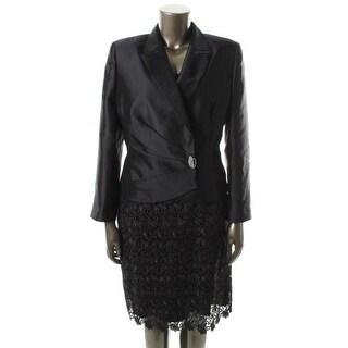 Tahari ASL Womens Meilin Long Sleeves Knee-Length Skirt Suit - 4