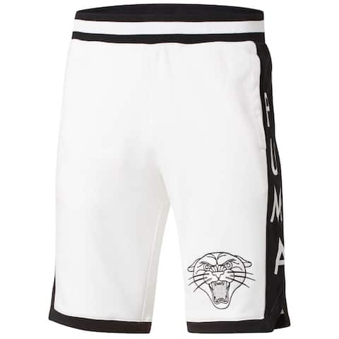 PUMA Mens Shorts White Size Large L Stryker Embroidered Logo Contrast