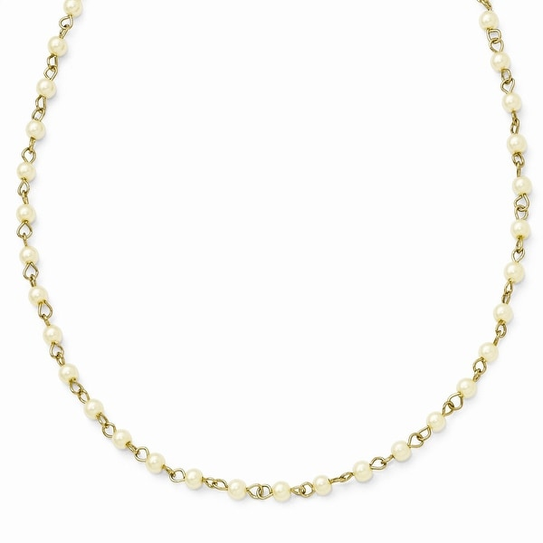 Goldtone Simulated Pearl Necklace - 36in