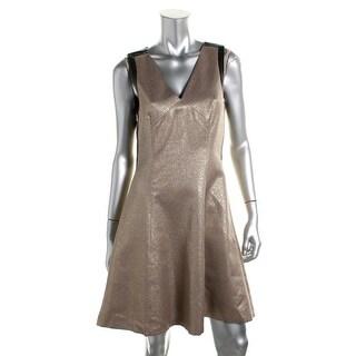 DKNYC Womens Metallic Sleeveless Cocktail Dress - 2