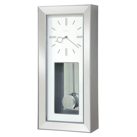 Howard Miller Chaz Chrome Chiming Wall Clock