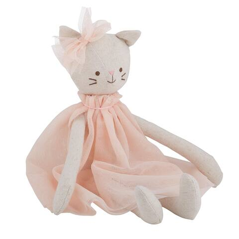 """12.5"""" Pink Cat Doll"""
