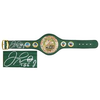 Floyd Mayweather Jr World Champion Green Boxing Belt WTBE