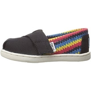 Toms Tiny Classic Canvas Infant Casual Shoes - 5