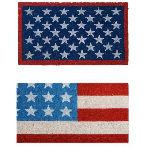 """Rubber-Cal """"American Flag Doormat"""" Kit - 18"""" x 30"""" - 2 Door Mats"""