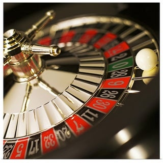 """Close-up of roulette wheel"" Poster Print"