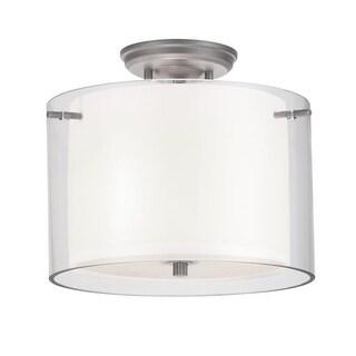 DVI Lighting DVP9013 Essex 2 Light Semi-Flush Ceiling Fixture (3 options available)