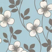 Brewster 2533-20229 Freud Light Blue Blossom Trail Wallpaper