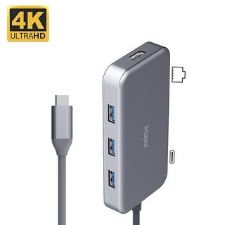 iHaper C002 7-in-1 USB-C Hub with Type-C Charging / HD Video Output / USB-A 3.0 / RJ45 Ports