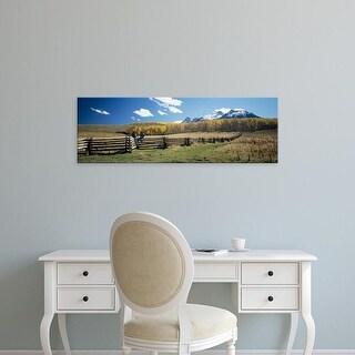 Easy Art Prints Panoramic Image 'Last Dollar Ranch, Mount Sneffels, San Juan Mountains, Colorado' Canvas Art