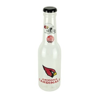 NFL Arizona Cardinals Jumbo Bottle Coin Bank 21 inch Tall - 21 X 5.5 X 5.5 inches