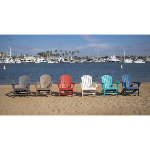 LuXeo Hampton Poly Outdoor Patio Adirondack Chair (2 Pack)