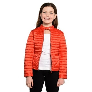 Save The Duck Lightweight Girls Bomber In Red