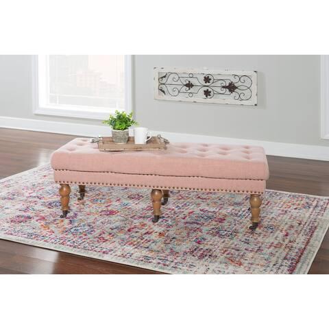 Copper Grove Pereiaslav 50-inch Tufted Pink Bench