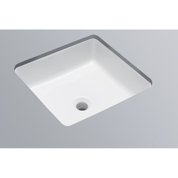 Mirabelle Miru1616 16 1 4 Square Porcelain Undermount Bathroom Sink With Overflow