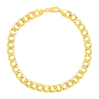 Just Gold Men's Bevelled Link Bracelet in 10K Gold - YELLOW