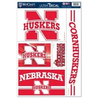 Nebraska Cornhuskers Decal 11x17 Ultra