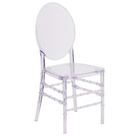 Crystal Ice Stacking Chair with Elongated Oval Back - Banquet & Event Seating