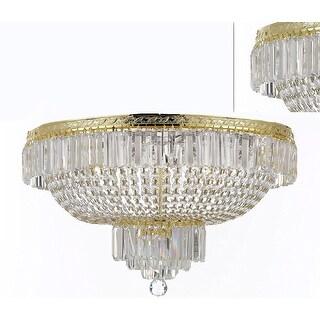 "French Empire Crystal Semi Flush Basket Chandelier H21"" X W30"""