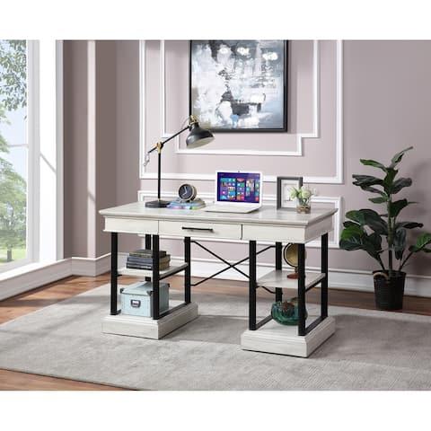 Somette Gabby Hazy White One Drawer Desk