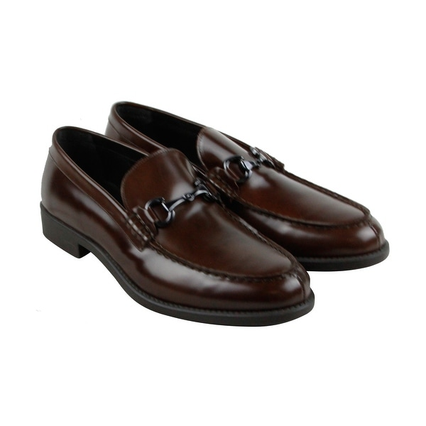 Kenneth Cole Reaction Design 201063 Mens Brown Casual Dress Loafers Shoes