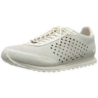 Lacoste Womens Helaine Runner Suede Perforated Fashion Sneakers - 6.5 medium (b,m)