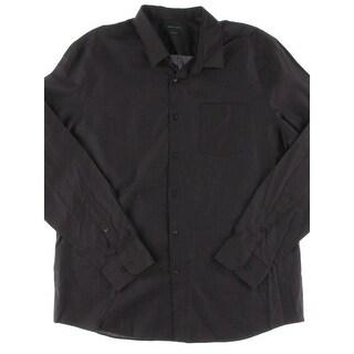 Perry Ellis Mens Casual Shirt Slim Fit Micro Checkered
