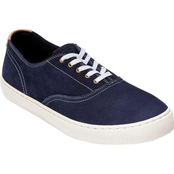 ca5a4e3c07 Shop Cole Haan Men's GrandPro Deck Oxford Sneaker Marine Blue Nubuck ...