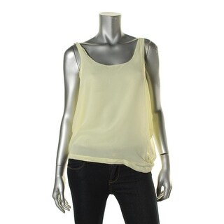 Zara Collection Womens Sheer U-Neck Tank Top - S