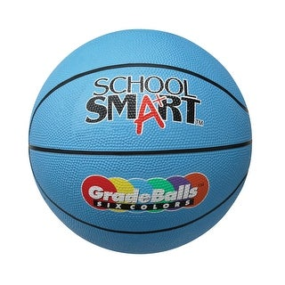 School Smart 11 in Gradeball Rubber Mini Basketball, Blue
