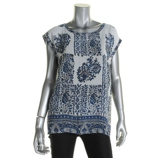 Two by Vince Camuto Womens Blouse Georgette Printed