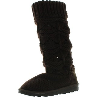 Muk Luks Womens Jamie Short Knit Boots